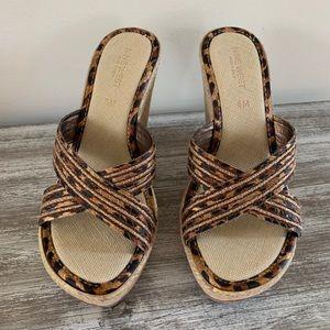 Nine West Espadrille Wedge Slide Sandal